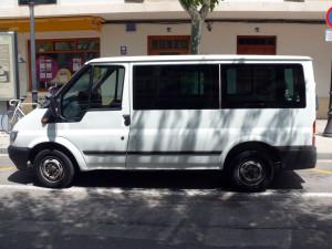 La infractora conducía una Ford Transit.