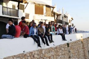 Participantes en Binibeca Vell. FOTO.- Tolo Mercadal