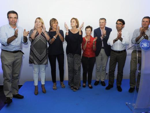 Cospedal enciende a los populares menorquines a 24 horas del inicio de la campaña electoral