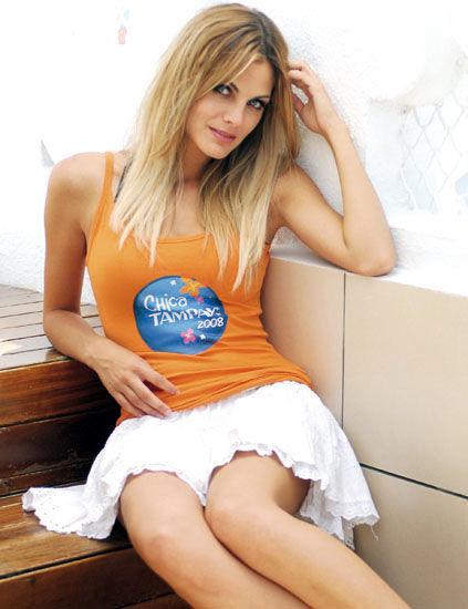 Amaia Salamanca, durante un a anuncio.