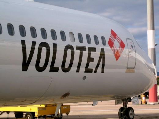 Avión de la compañía aérea Volotea.
