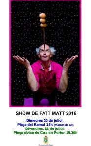 Cartel del Show de Fatt Matt.