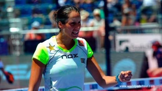 Gemma Triay celebra un punto en Valladolid.