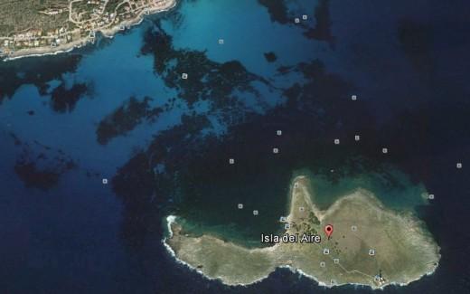 Imagen aérea de la Illa del Aire.