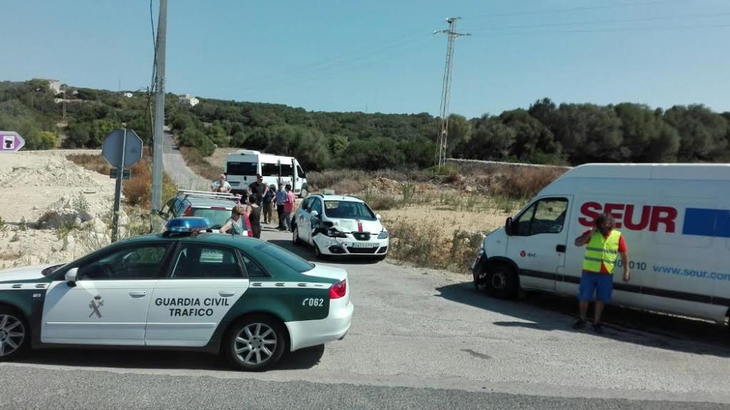 Imagen de los vehículos accidentados.