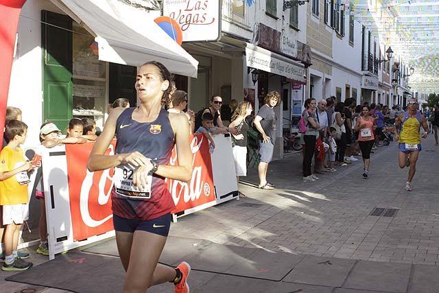 Marina Bagur tras lograr el triunfo.