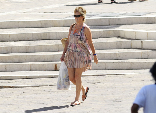 Mercedes Milà es una visitante habitual en la isla donde pasa varias temporadas del año