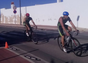 Momento de la prueba ciclista.