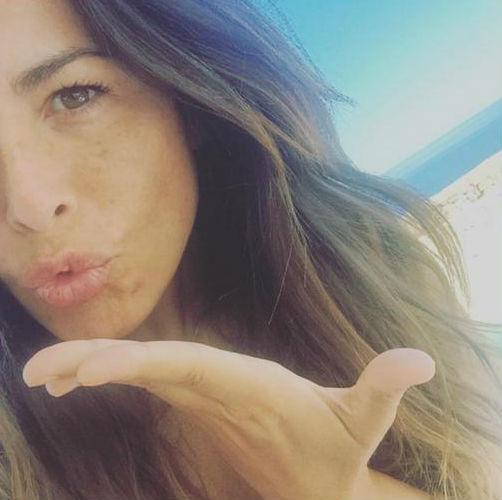 Nuria Roca, en Menorca en una imagen suya de Instagram.