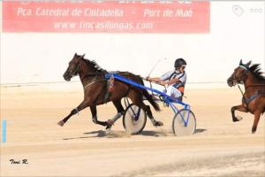 Una de las carreras en Ciutadella.