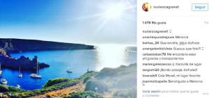 Una de las fotos que ha subido a su cuenta de Instagram.