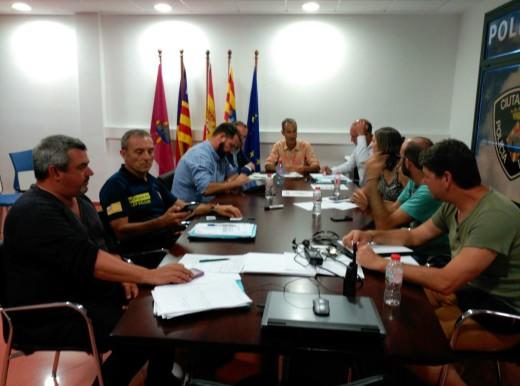 Momento de la reunión del comité asesor que ha modificado el nivel del Plan Cambal.