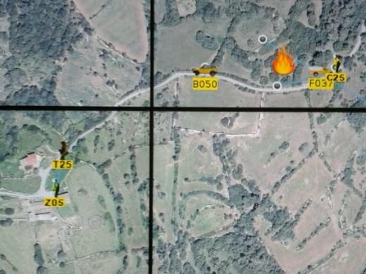 El incendio forestal en la finca de Rafal Fort de Alaior ha afectado a 1.400 m2