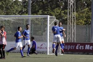 Celebración del gol del San Rafael.