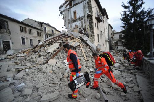 Imágenes de las consecuencias del terremoto en Pescara.