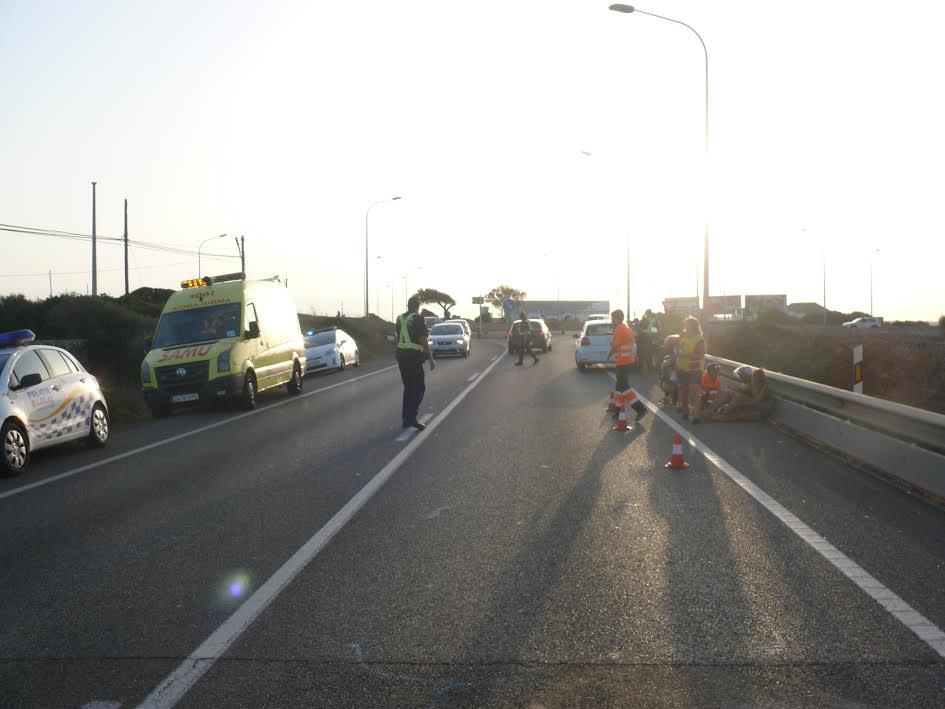 Imagen tras el accidente ocurrido en la Me1.