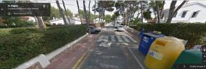 Imagen en Google View de la avenida Migjorn de Cala Blanca.