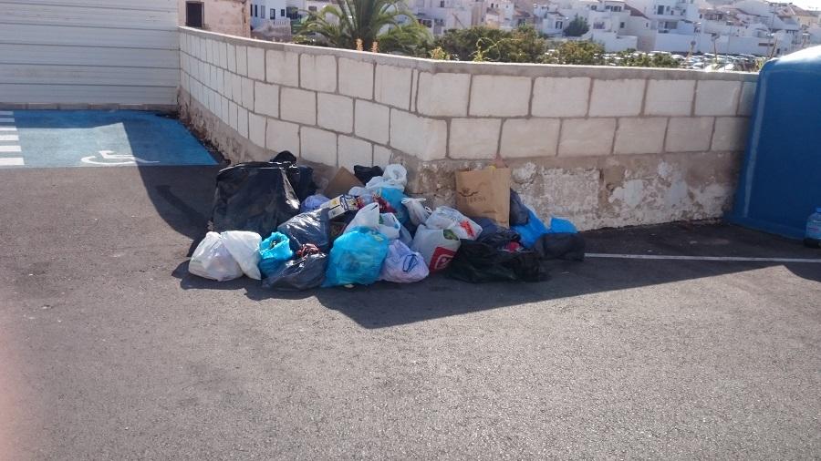 Acumulación de basura.