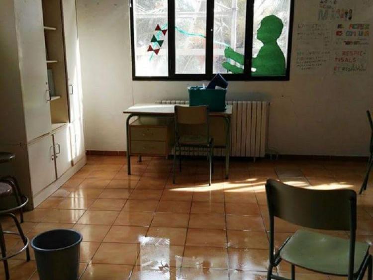 Imagen de una de las aulas afectadas.