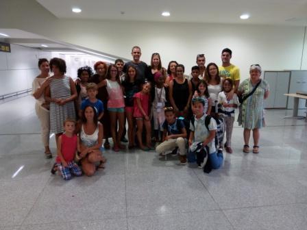 La despedida en el Aeropuerto de Menorca fue entrañable.