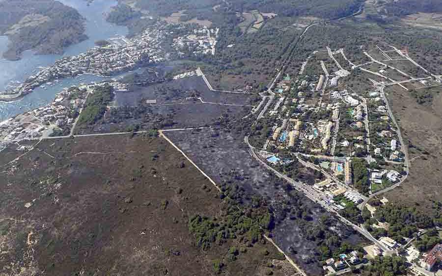Imagen aérea de cómo ha quedado la zona afectada.