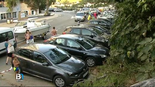 Imagen de IB3 Televisió de los coches afectados.