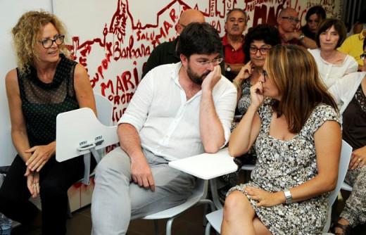 Baquero (Izquierda) y Tur (centro)  son los focos de atención menorquines en la crisis interna del PSOE