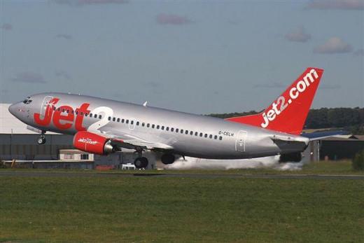 Un avión de la compañía aérea Jet2