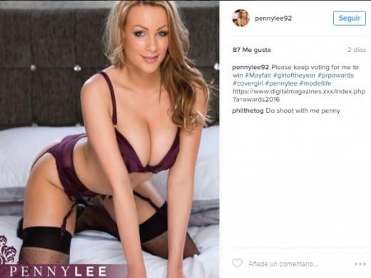 """(Fotos) Penny Lee: una modelo erótica inglesa """"encantada"""" con Menorca"""