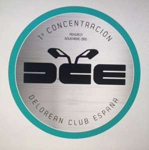 El DeLorean Club España ya ha diseñado el logo del evento en Menorca.