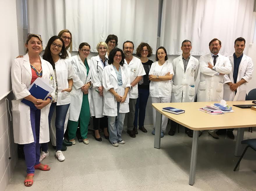 Miembros del Comité de Mama del Hospital Mateu Orfila.