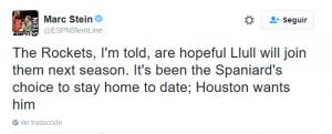 Tweet del periodista Marc Stein.