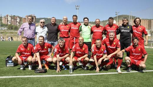 Formación de veteranos del Real Mallorca.