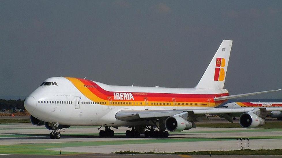 Imagen de un avión de Iberia.