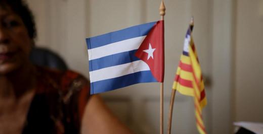 Banderas de Cuba y de Balears.