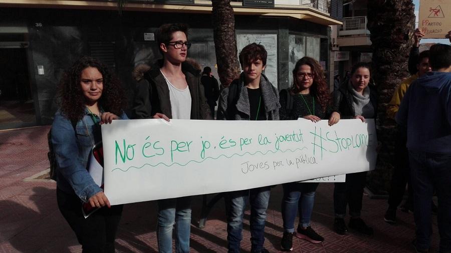 Protesta en Maó.