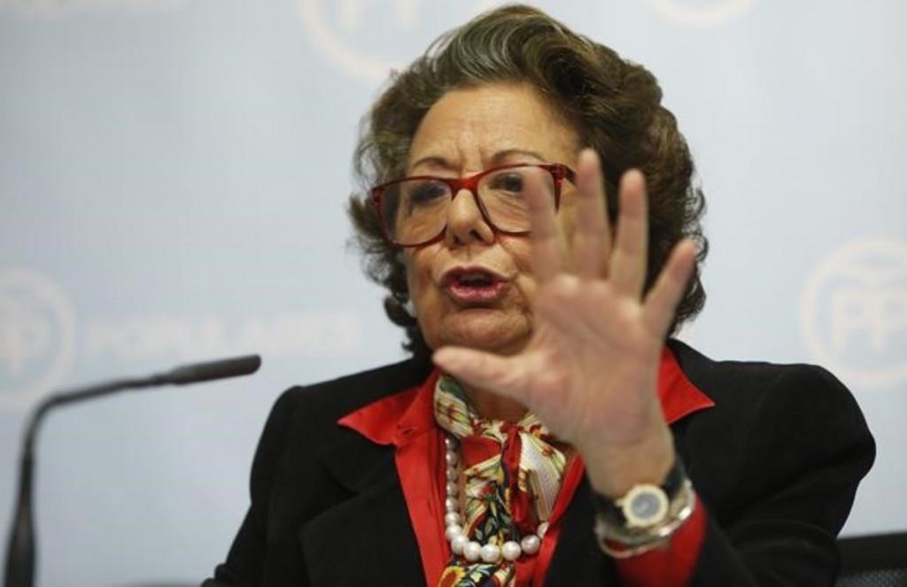 Rita Barberá, en una comparecencia ante los medios.