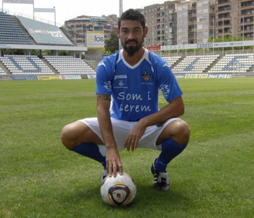 Biel Medina, en su etapa en el Lleida.