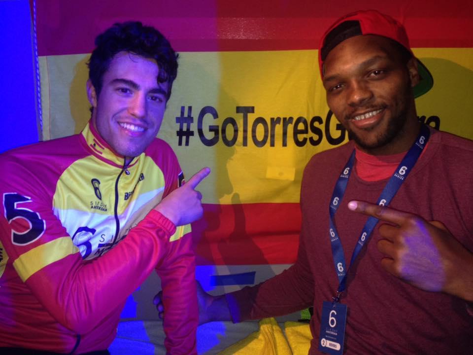 Albert Torres y Frank Muñoz, juntos en Amsterdam (Foto: Frank Muñoz)