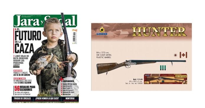 Una escopeta de juguete.