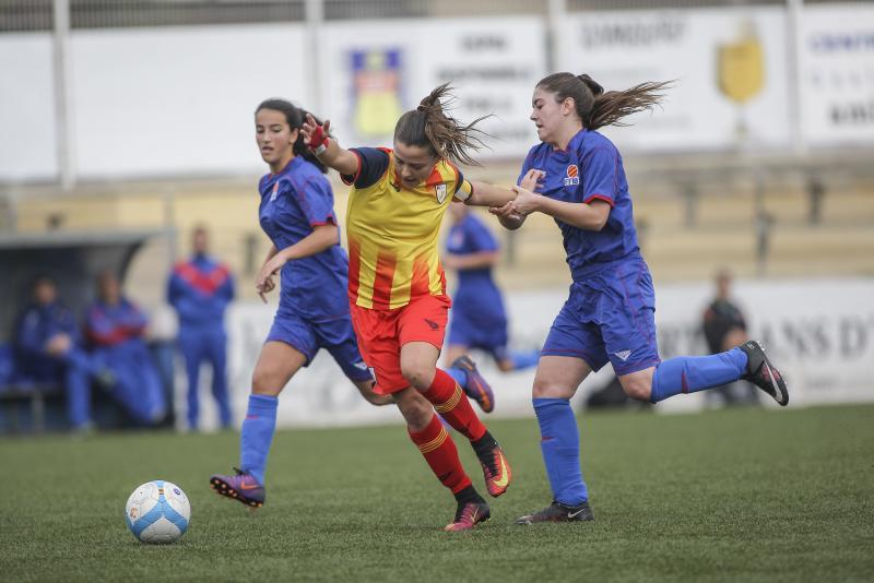Imagen del partido de la selecci´n balear sub 16 ante Catalunya (Foto: futbolbalear.es)