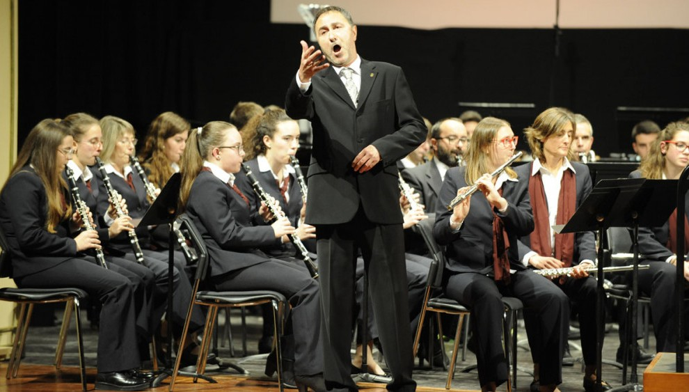 Lluís Sintes, en concierto.