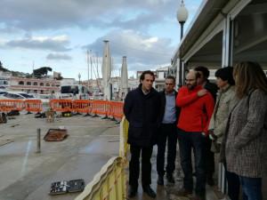 El conseller visitó este viernes la zona para constatar las obras a realizar.