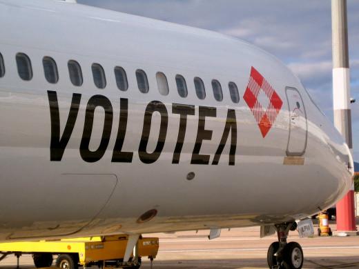 Avión de la compañía Volotea.