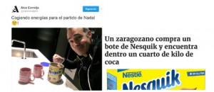 La gente enlazó la foto con el hallazgo de Zaragoza.