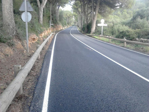 Imagen que presenta el nuevo asfalto de la carretera (Foto: CIME)