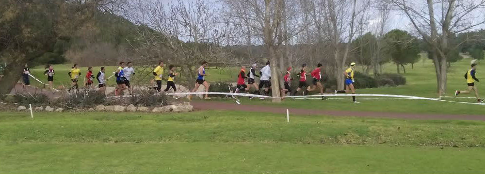 Los corredores, en acción.