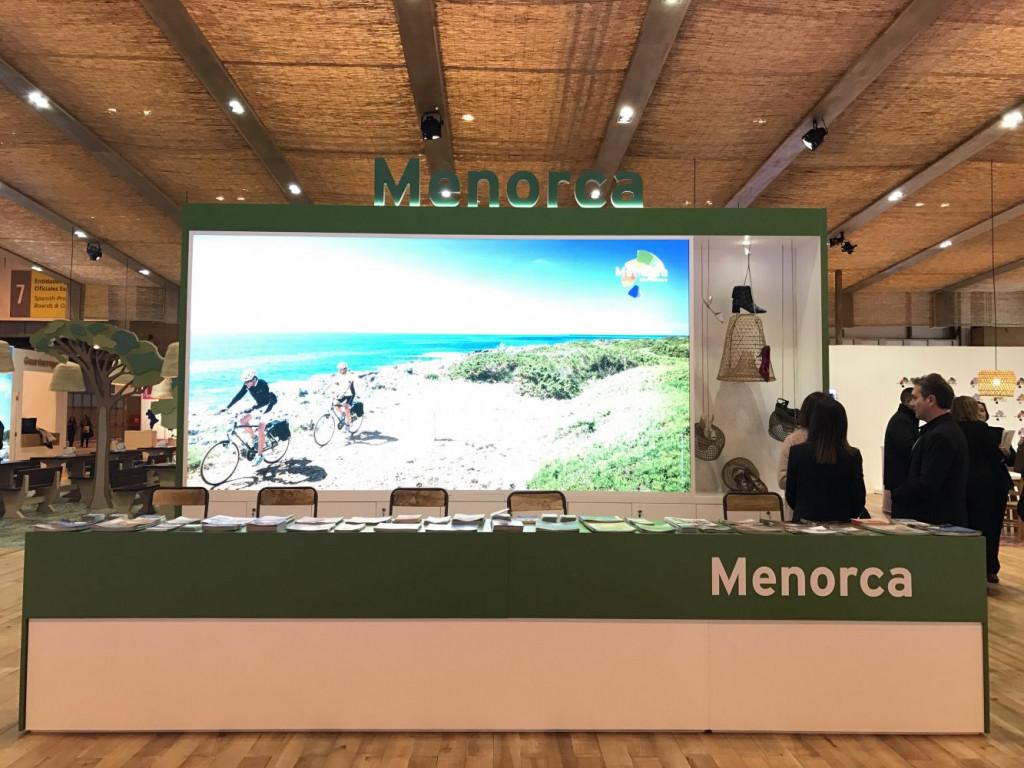 Imagen del stand de Menorca en la feria Fitur.