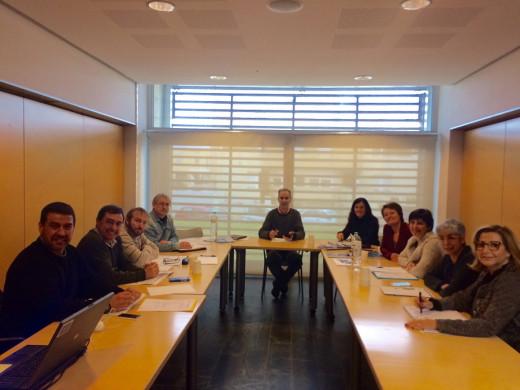 Imagen de la reunión mantenida hoy.