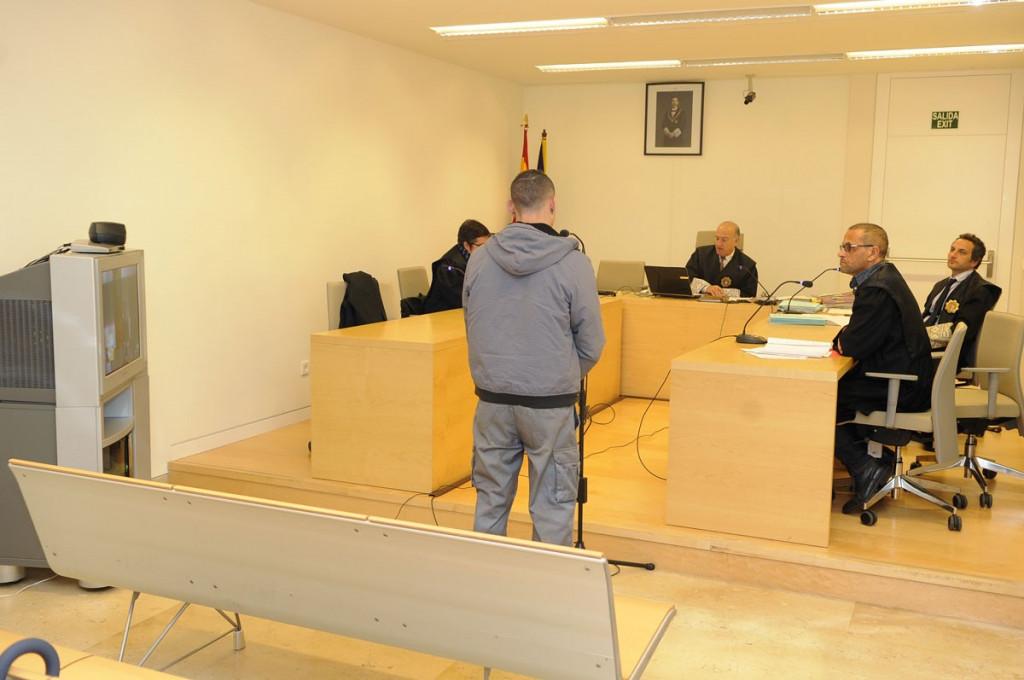 El acusado, en el momento del juicio (Foto: Tolo Mercadal)
